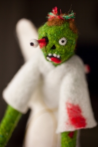 Zombie angel tree topper by the maniacal menagerie
