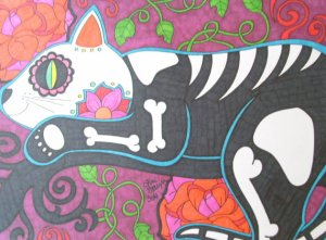 Tonitiger414 Day of the Dead Cat